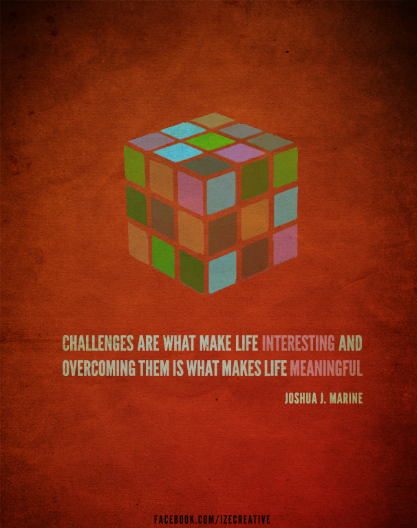 Motivational challenges quote poster