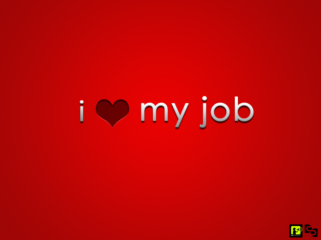 i love to work wallpaper 1024x768