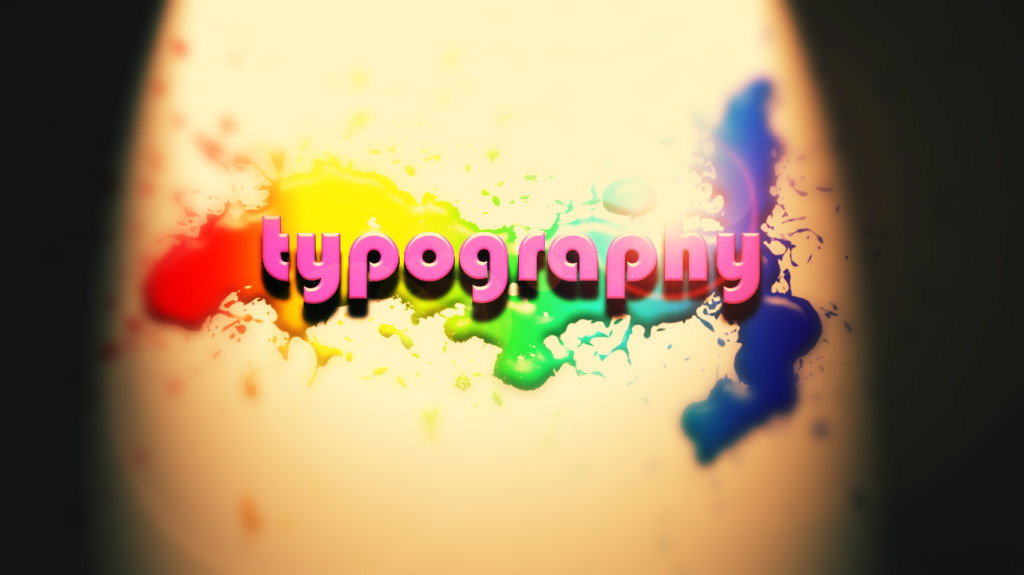 typography 3D wallpaper