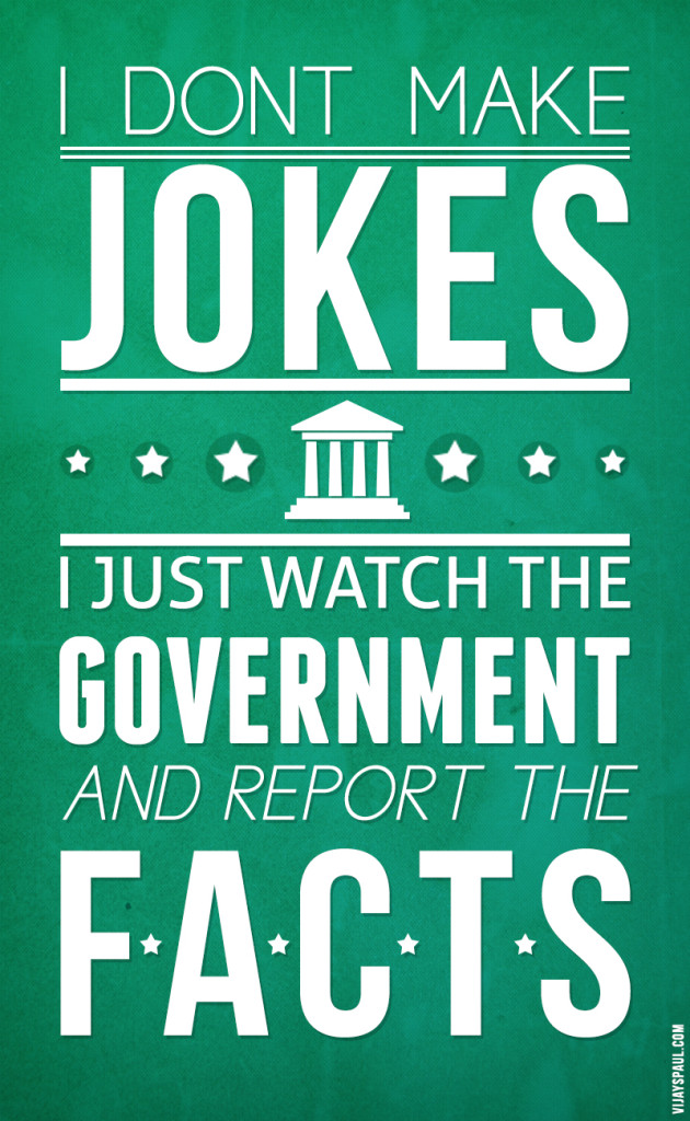 Typography Government Jokes Poster