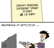 India Net Speed increases IRCTC still same