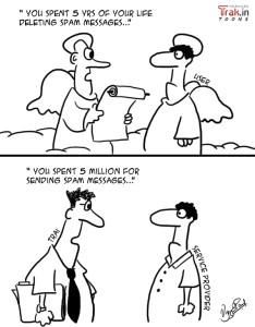 TRAI SMS regulation cartoon