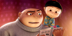 Man and girl cartoon despicable me