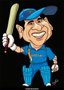 Sachin Tendulkar Caricature