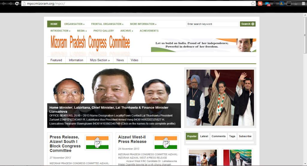Mizoram Congress Website