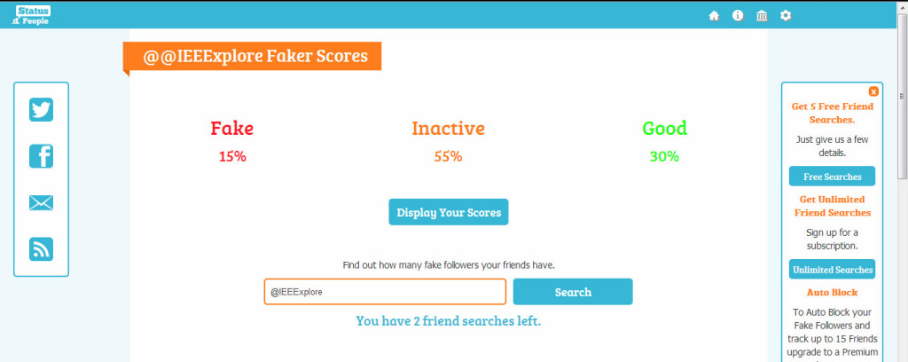 IEEE Xplore Twitter Fake Follower Report