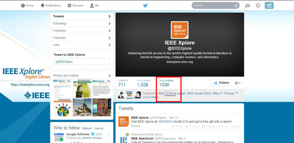 IEEE Xplore Promoted Tweet
