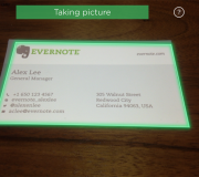evernote linkedin card scanning camera pic