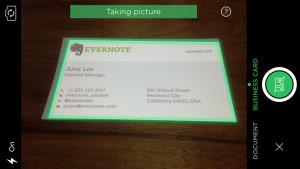 evernote linkedin card scanning camera pic