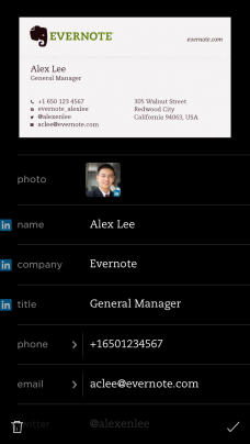Evernote linkedin just made business cards more awesome ios evernote card scanner pic colourmoves