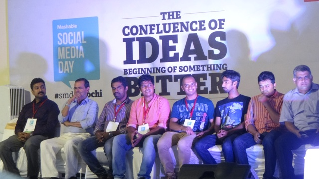 Team Ocha social media day kochi 2014