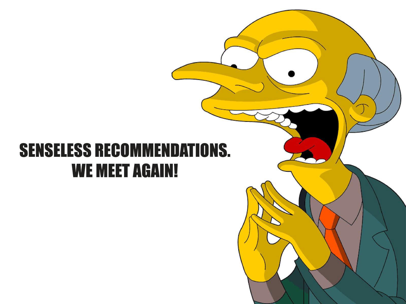 LINKEDIN SENSELESS RECOMMENDATIONS